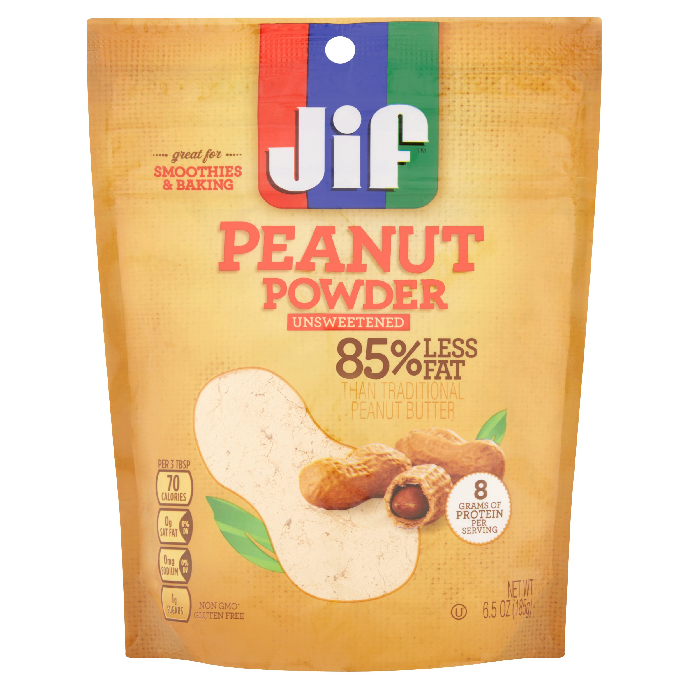 Jif Unsweetened Peanut Powder, 6.5 oz