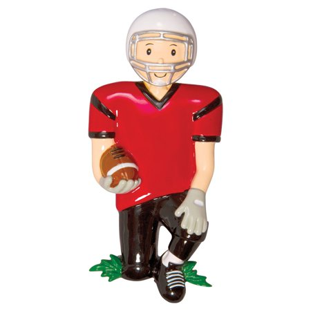 Sports FOOTBALL Player Personalized Christmas Ornament - Personalized Football Ornaments