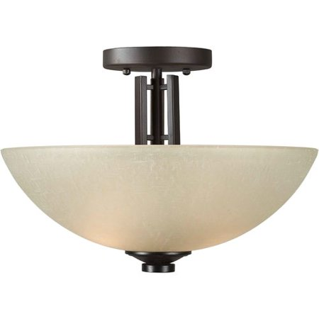 Semi Flush Forte Lighting (Forte Lighting 2 Light Semi Flush Mount )