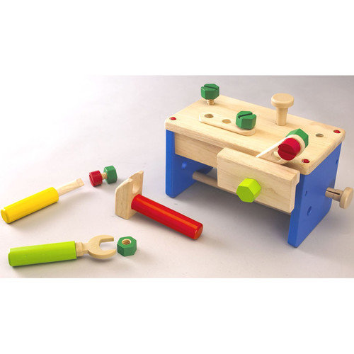 Wonderworld Work Bench 'N' Box Portable Play Carpentry Set