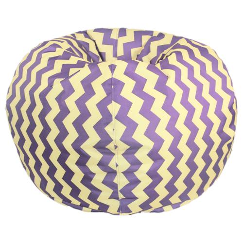 Chevron Bean Bag Chair 27 inch Purple and Yellow Chevron