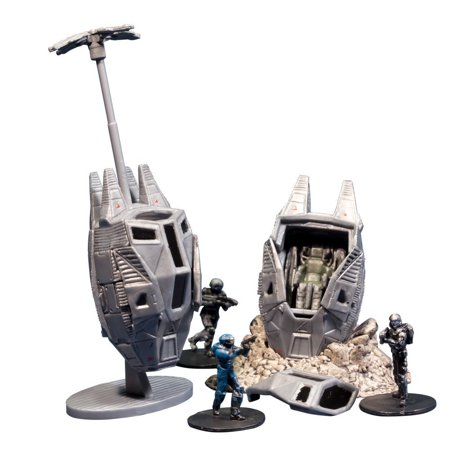 Toys Halo Micro Ops Series 1: Odst Drop Pads (Includes 2 with Debris Base, Drag Chute and Buck), Includes two ODST Drop Pods By