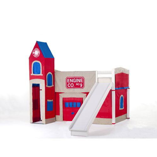 Harriet Bee Lyric Firehouse Loft with Slide