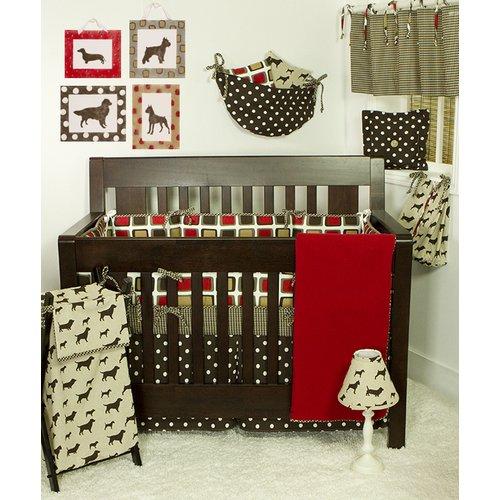 Cotton Tale Houndstooth 7 Piece Crib Bedding Set