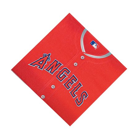 Fun Express - Mlb Los Angeles Angels Lunch Napkins for Party - Party Supplies - Licensed Tableware - Licensed Napkins - Party - 36 Pieces](Party Supplies Los Angeles)