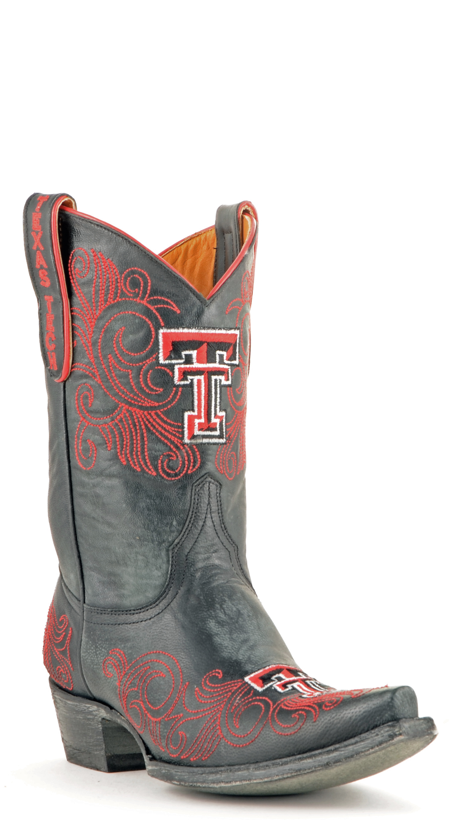 """Gameday Boots Women's 10"""" Short Leather Texas Tech Cowboy Boots 3626 New by GameDay Boots"""