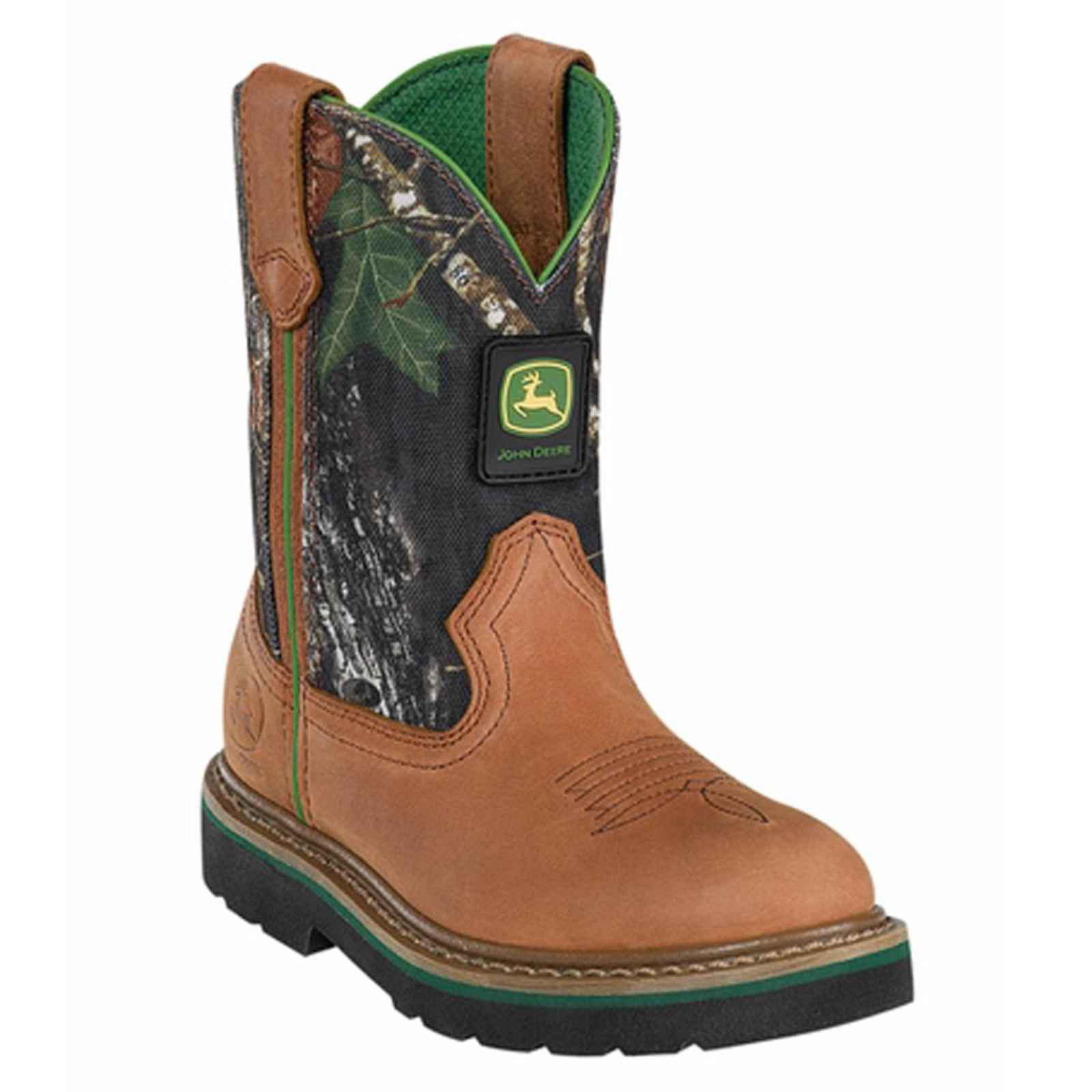 John Deere Children's Tan and Camo Western Boots JD2188 by John Deere