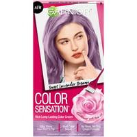 Garnier Color Sensation Hair Color Cream, 8.21 Sweet Lavender Dreams (Iridescent Purple), 1 kit