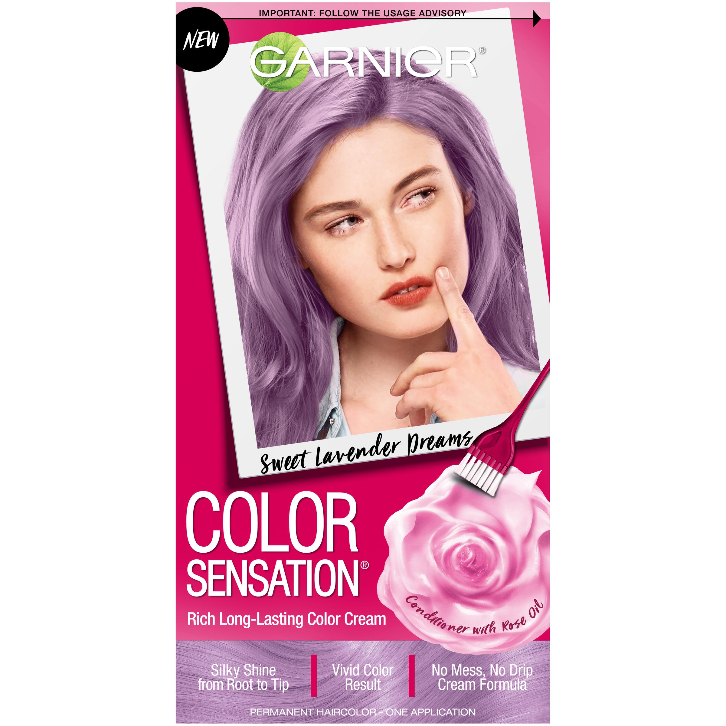 Garnier Color Sensation Rich Long-Lasting Color Cream, Sweet Lavendar Dreams