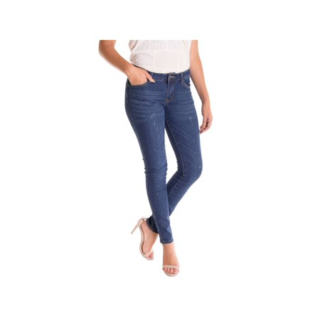 Alta Women's Skinny Jeans Designer Fashion Stretch Pants Paint Splash Denim