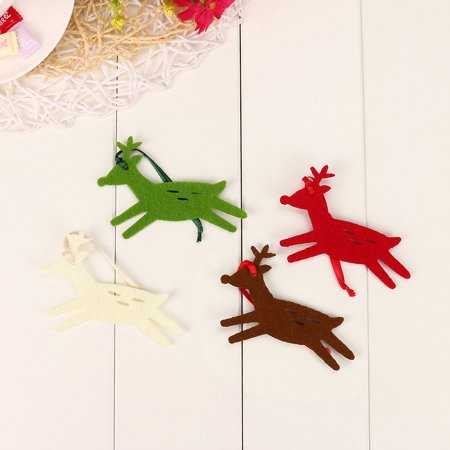 10PC Christmas Elk Ornament Hanging Pendant Embellishment
