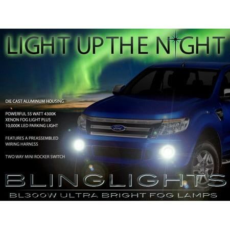 Fog Light Lamp Set - New 2012 2013 2014 Ford Ranger Xenon Foglamps Foglights Driving Fog Lamps Lamp Lights Light Set Kit