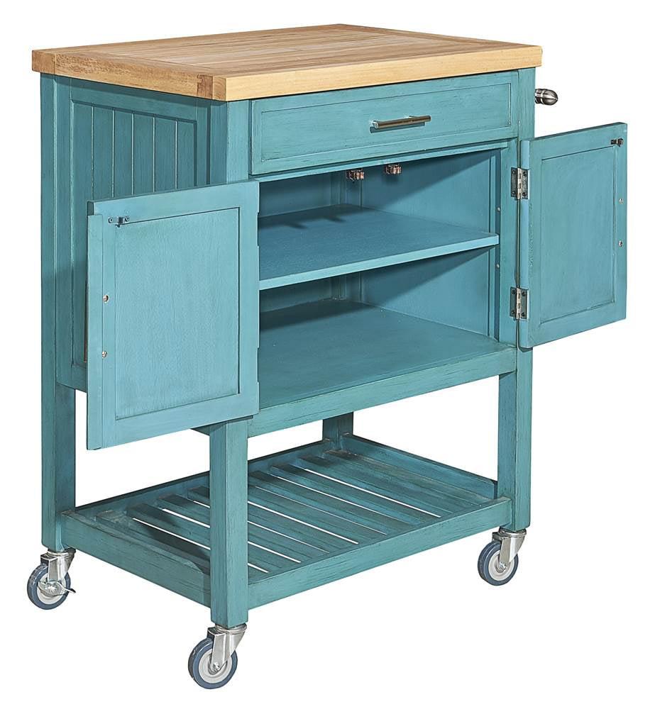 Powell Conrad Kitchen Cart, Multiple Finishes - Walmart.com