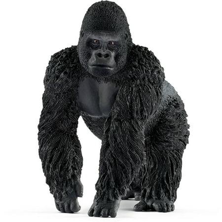 - Schleich Wild Life, Gorilla, Male Toy Figure
