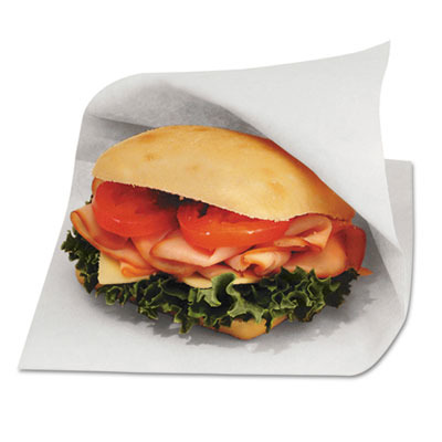 Open-side Grease-resistant Sandwich Bags, 6w X 3/4 X 6 1/2h, White BGC300421