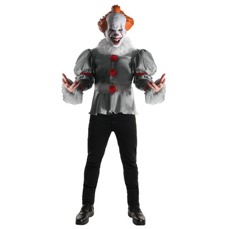 Pennywise IT Clown Adult Deluxe Costume 820859 Size Standard (Up to 42