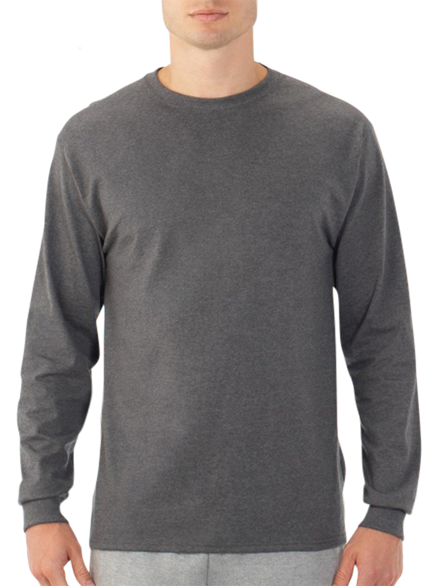 ea5c06bd0a421 Fruit of the Loom - Fruit of the Loom Men s Platinum EverSoft Long Sleeve T- Shirt