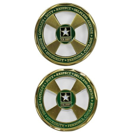 Army Values Cut Out Challenge Coin