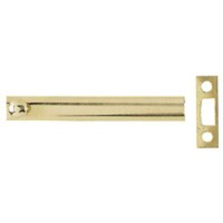 "Stanley 80-4040 Surface Bolt, 6"", Solid Brass"