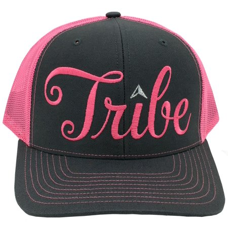 1df847f0d9a Bachelorette Party Embroidered Bride Tribe Structured Trucker Snap Back Hat  (Neon Pink Grey Hat