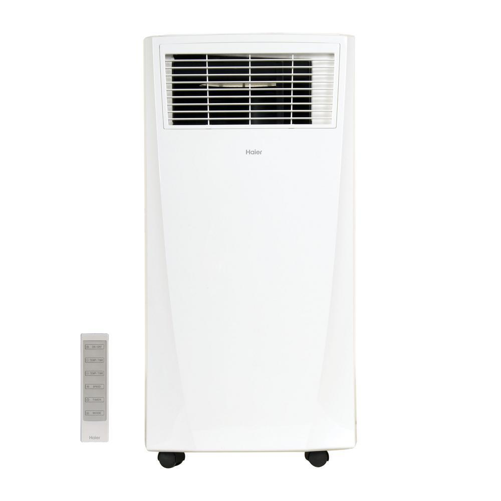 Haier 9,000 BTU 115-Volt Portable Air Conditioner with Remote, Factory Reconditioned
