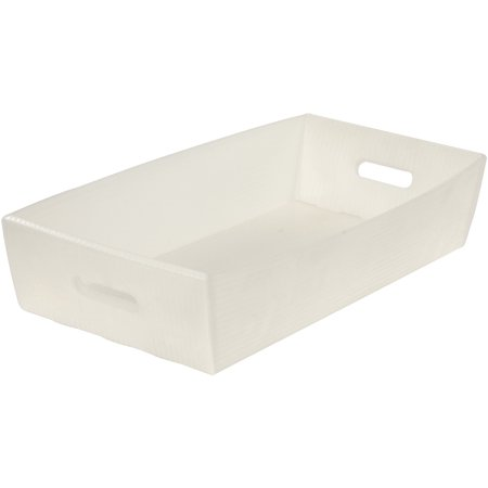 Corrugated Plastic Mail Tray, Natural, 24-1/2 X 12 X 4-1/2, Lot of 10