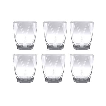 Mainstays Geometric Double Old Fashioned 6 Piece Set