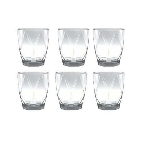 Mainstays Geometric Double Old Fashioned Set, 6 Piece Double Old Fashioned Set Tag