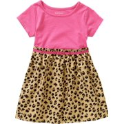 Baby Toddler Girl Short Sleeve 2-Fer Dress