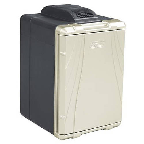 Gentil Coleman 40 Quart PowerChill Thermoelectric Cooler With Power Cord,  Black/Silver