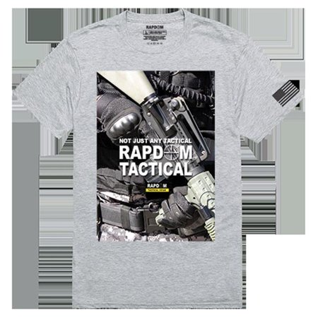 RapidDominance TS1-782-H08-03 RAPDOM 2 Tactical Graphics Tee, Heather Grey - Large - image 1 of 1