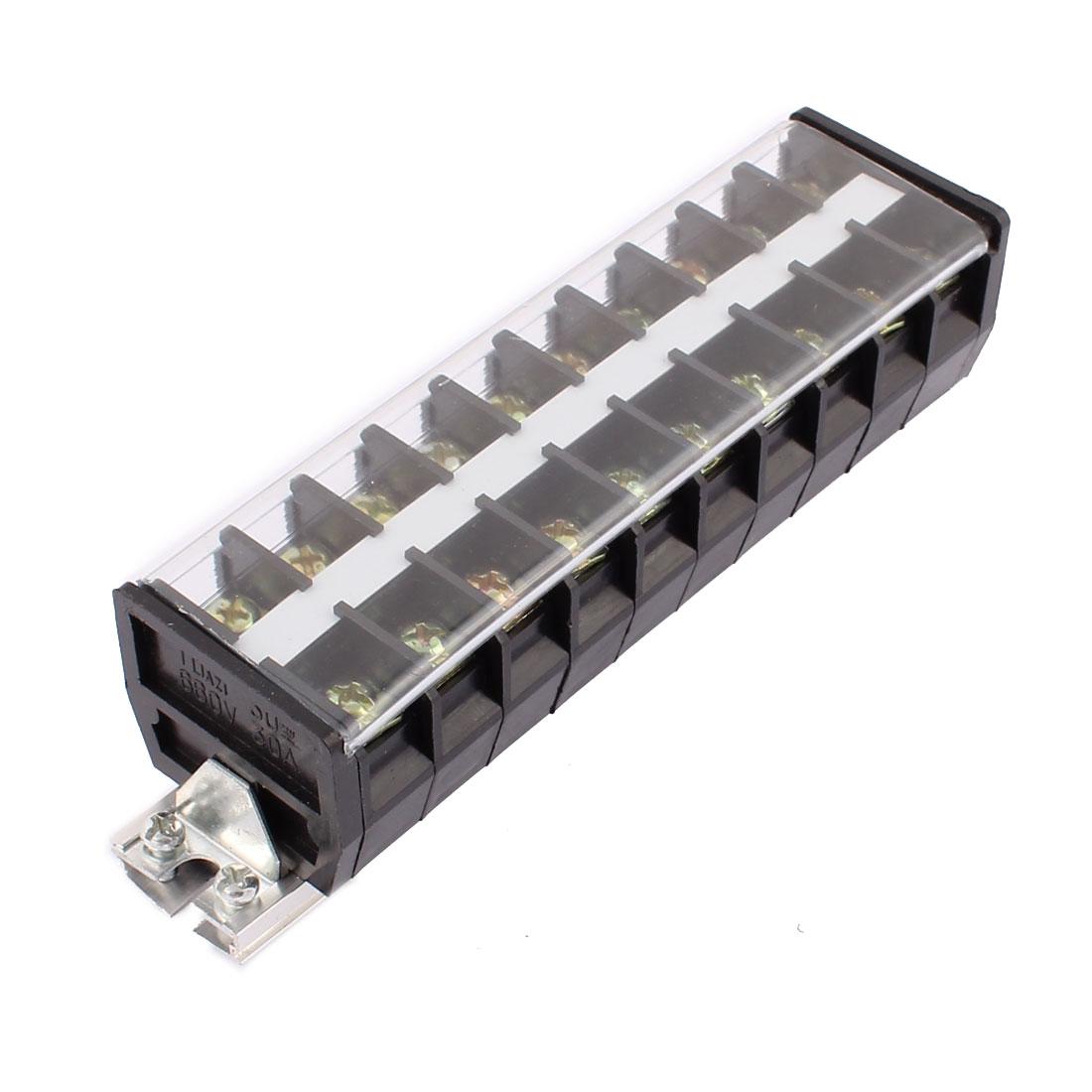 660V 30A Double rangée 10 Vis Position Bornier Combinaison Rail DIN TD3010 - image 4 de 4