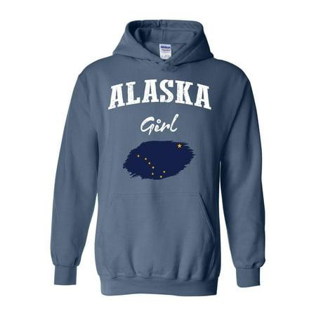 Alaska Girl Unisex Hoodie Hooded Sweatshirt thumbnail