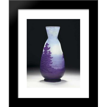 (Cameo Glass Landscape Vase 20x24 Framed Art Print by Emile Galle)