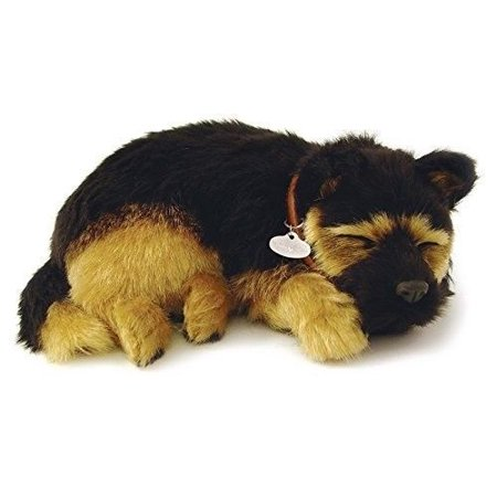 PERFECT PETZZZ GERMAN SHEPHERD PLUSH PUPPY BREATHING HUGGABLE ANIMAL DOG REAL (Best Dog Toys For German Shepherds)