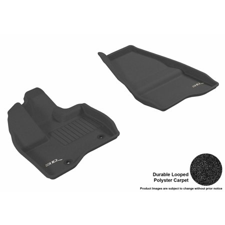 3D MAXpider 2011-2014 Ford Explorer Front Row All Weather Floor Liners in Black (Ford Explorer Carpet Kit)