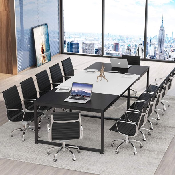 Tribesigns 8FT Large Conference Table, 94.48L x 47.24W x 29.92H Inches Modern Meeting Table, Seminar Training Table for Office Conference Room
