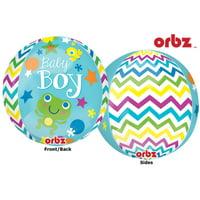 "16"" Sweet Baby Boy Orbz Balloons"
