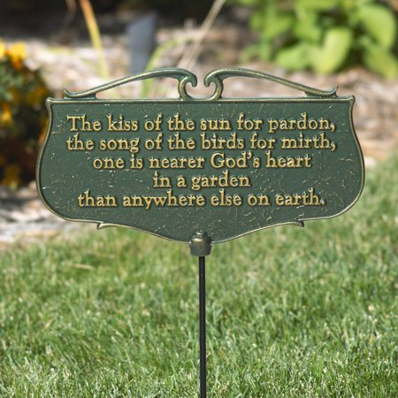 The Kiss of the Sun. . ., Garden Poem Sign
