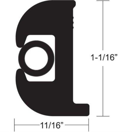 TACO METALS V11-0809BBK70-2 / TACO Flex Vinyl Rub Rail Kit - Black w/Black Insert - 70\