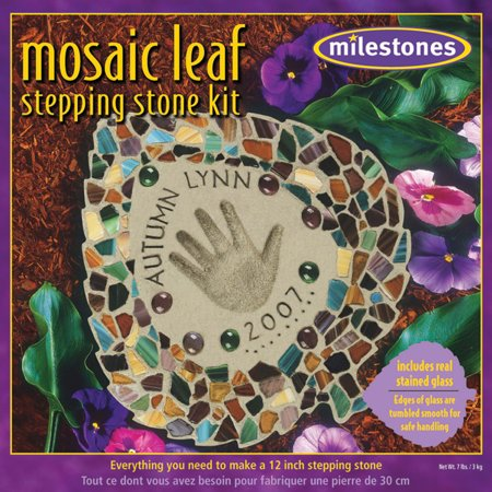 Milestones Mosaic Leaf Stepping-Stone Kit