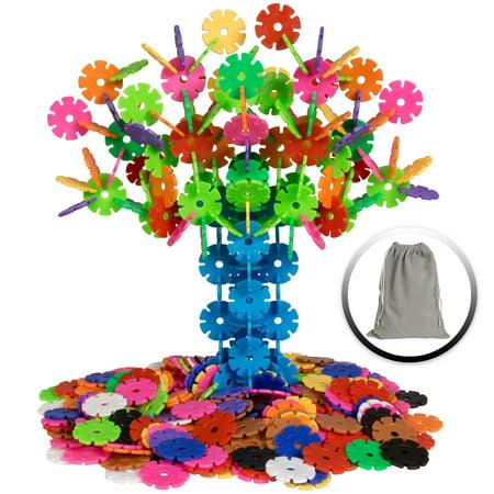 Best Choice Products 360 Piece Kids Educational Stem Toy Plastic Building Block Discs Set W  Carrying Bag   Multicolor