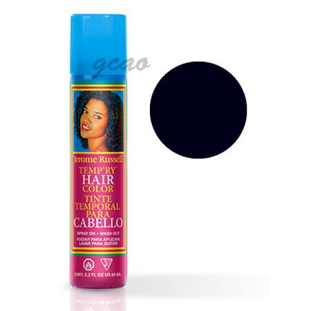 Jerome Russell Temp'Ry Color Spray, Blue Black, 2.2 Oz - Black To Purple Ombre