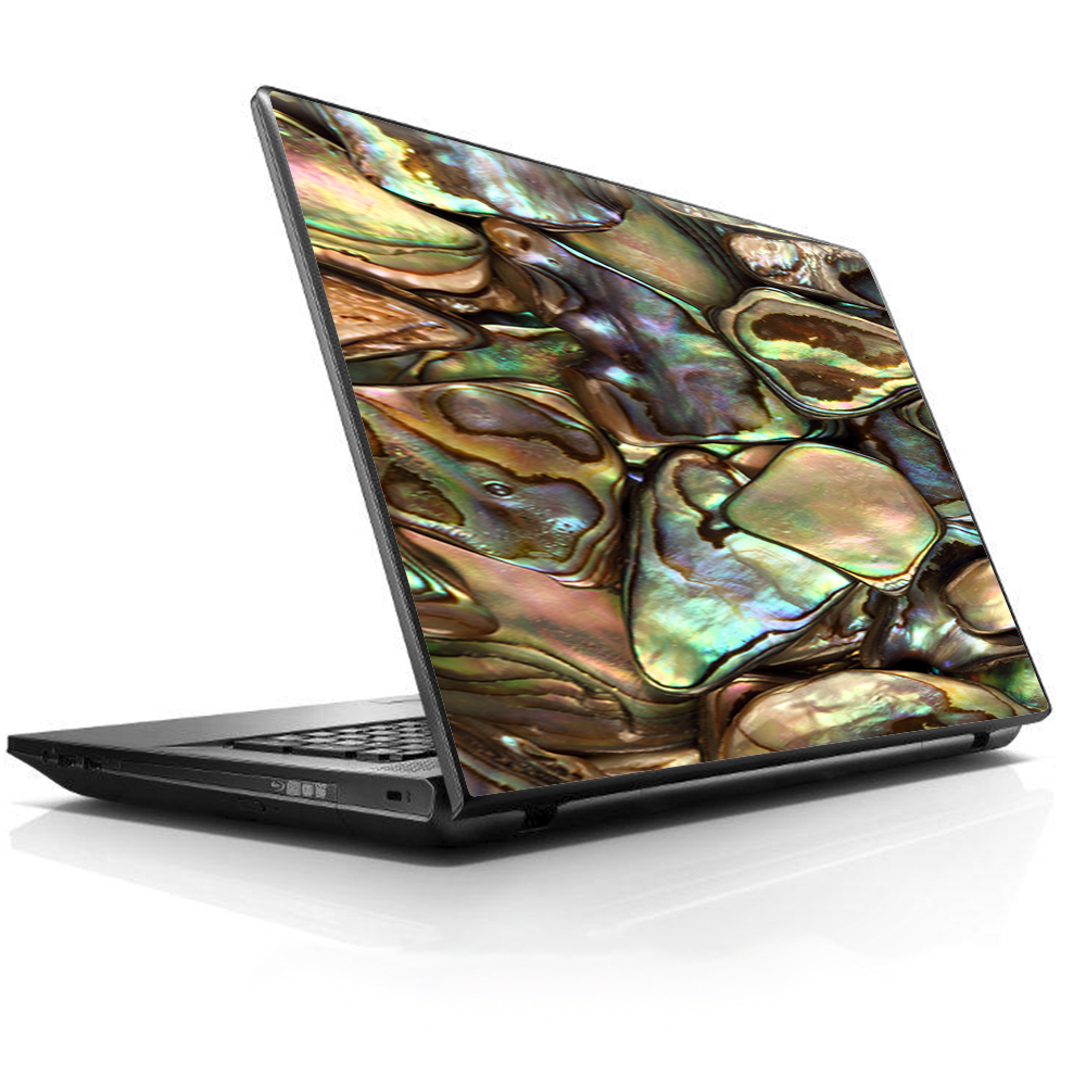 """Laptop Notebook Universal Skin Decal Fits 13.3"""" to 15.6"""" / Gold Abalone Shell Large"""