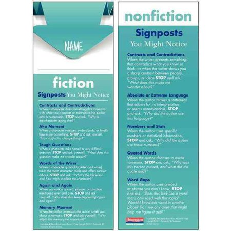 Notice & Note Reading Nonfiction Signpost Student Bookmarks: 30-pack