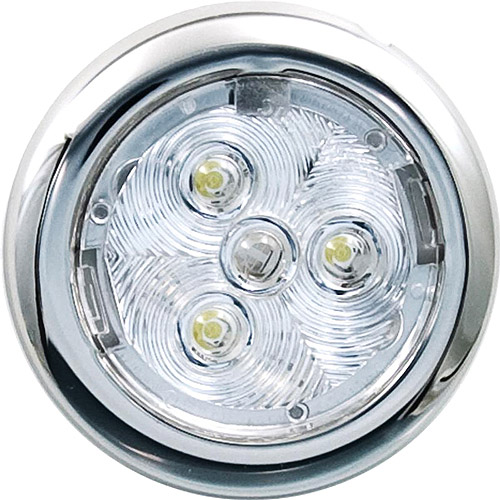 "Attwood 2.75"" Round LED Stainless Steel Interior/Exterior Light"