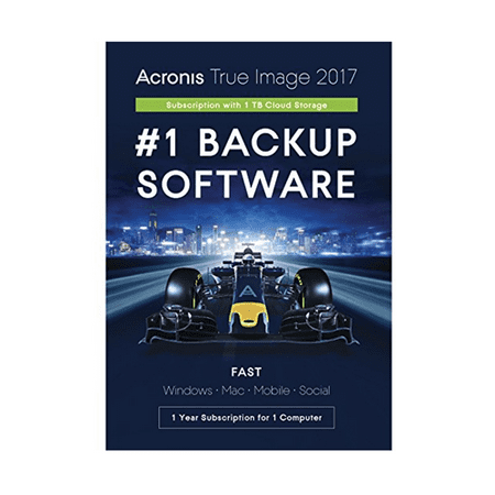 Acronis True Image 2017 Subscription 1 Computer + 1TB Cloud Storage - 1 (Acronis True Image Clone Disk Operation Failed)