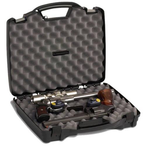 """Plano Pro Max Double Pistol Case, 16.75"""" x 14.5"""" x 3.5"""", Black"""