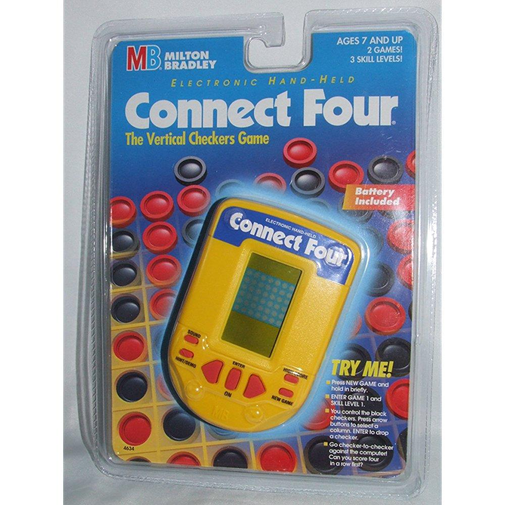 Milton Bradley connect four electronic handheld game (1995)