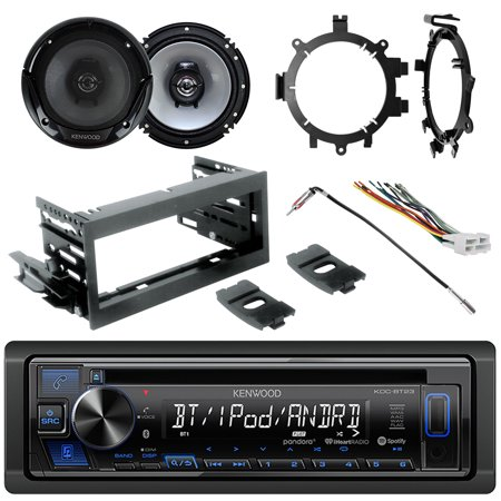 Kenwood Single DIN AUX USB MP3 AM/FM CD Bluetooth Stereo, 2x 6.5